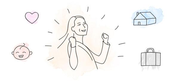 successful woman drawing