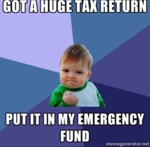 tax refund savings meme