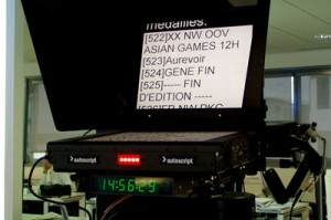 teleprompter screen