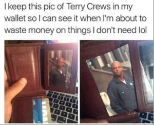 terry crews wallet