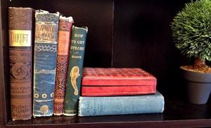 thrift book shelf