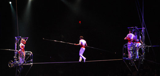 tightrope balance act