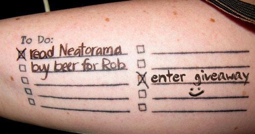 To-Do List Tattoo