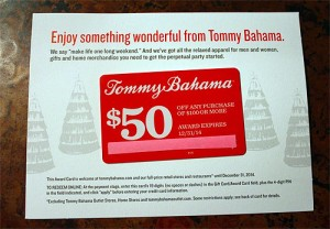 tommy bahama $50 off coupon