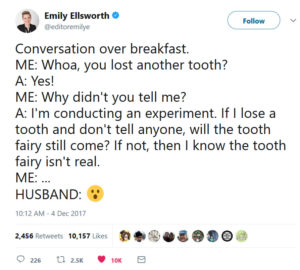 tooth fairy experiment