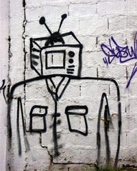 TV Graffiti Man