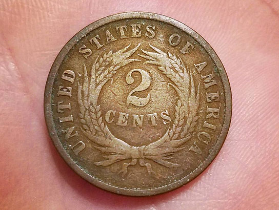 two cent piece 1865