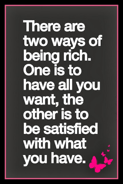two ways being rich