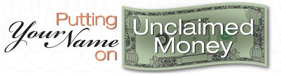 unclaimed money header
