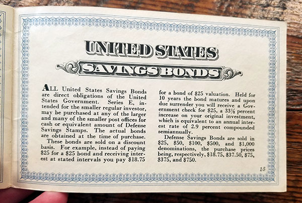 us savings bonds booklet