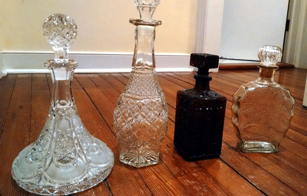 old vintage decanters