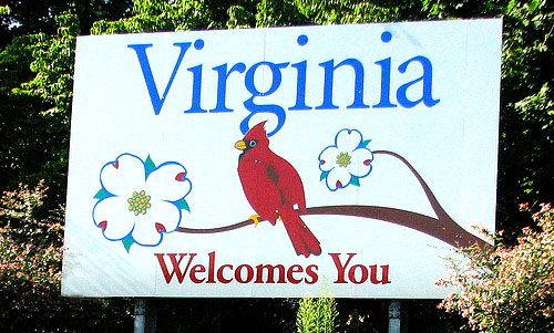 virginia welcomes you sign