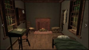 walden game - inside cabin