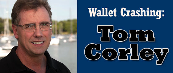 tom corley wallet crashing
