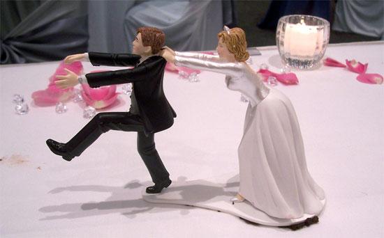wedding cake topper funny