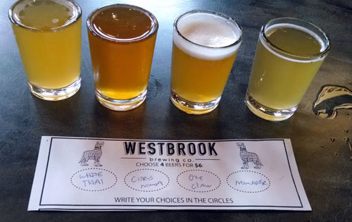 westbrook beer samples