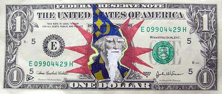 wizard dollar bill doodle