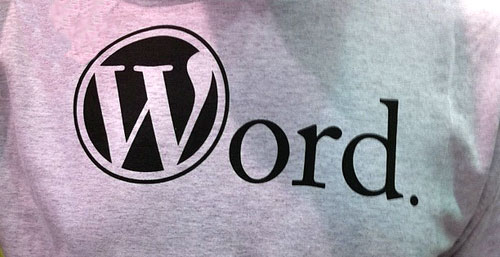 wordpress shirt word