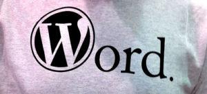 wordpress word shirt