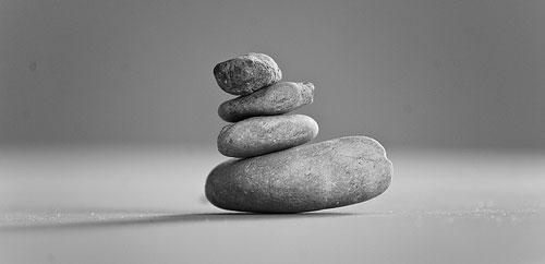 minimalist zen pebbles