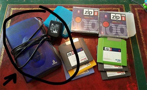 zip drive reader